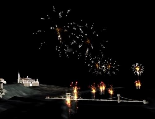 Budapest augusztus 20. tűzijáték látványterv