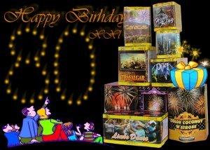 szülinapi tűzijáték csomag - HBXXL - tűzijáték születésnapra